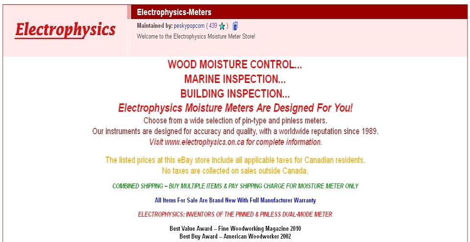 Electrophysics Ebay Store